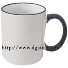 11oz Ceramic Sublimation Coated Color Rim Mug (Dark Blue)