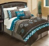 Luxury embroidery comforter set