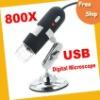Free shipping Digital Microscope---high quality 500X 2.0 MP USB Digital Microscope with 8-LED