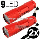 9 led flashlight pocket torch 3*AAA battery