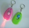 Flashlight with swivel keychain