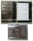 silver soft PVC cover notebook