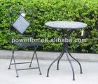2012 NEW 3PC folding metal mosaic patio furniture outdoor