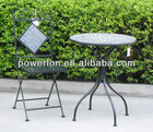 2012 NEW 3PC folding metal mosaic patio furniture outdoor