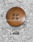 real cow leather button