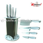 high standard kitchen knife set with plastic block