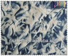 High quality 100% cotton denim tie dye fabric for shoes,bag