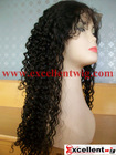 (FL-115) 20 inch naturla color 100% indian remy hair super curl full lace wig in stock