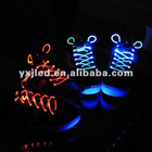 led colorful flashing shoelace,suitable for pub/club paries