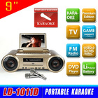 NEW Portable Karaoke Player with DVD/USB/SD card supported MX-1011D