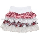pretty ruffle skirt with flamboyant tiers in red gingham