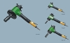Pneumatic pipe beveling machine