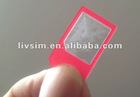 The thinnest only 0.8mm plastic micro sim card adapter for iPhone 4 /4S