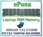 SDRAM 133 512MB Laptop RAM Memory