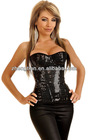 Black Sequin Burlesque Underwire Corset