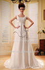 2012 holiday sale portrait neckline ivory satin emprie pregnant women dresses wedding dress F-110