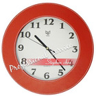 leather wall quartz clock