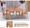 Rubber wood dining table; chair