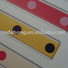 Regular dots printed grosgrain ribbon