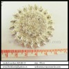 sunflower shape rhinestone brooch