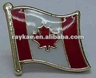 Canada flag pin,16mm metal world country flag lapel pin