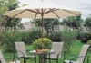 2.5m wooden frame umbrella