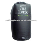 Factory plastic 10L dry bag black outdoor backpack water bag water resistant bag wet swimming bag