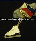 Ice Skate Boot Metal Keychain; Metal Sports Keychain-02