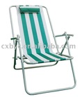 Green stripes folding Beach Chair