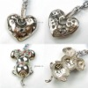 Metal alloy pendant, with rhinestone beads,Wholesale beads, European style, Chinese style