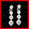 fashion jewelry manufacturer silver ball dangle earrings