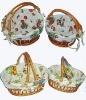 willow basket,wicker basket,gift basket,basket with lining designed for your flower,fruit,food.
