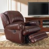Modern home furniture leather recliner rocking chair YRC9023