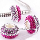 Fashion accessory clay rhinestone bracelet beads wholesale