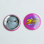 Round pin badges for garment clothing