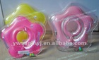 2012 inflatable PVC flower baby crystal swimming neck ring