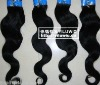 indian remy human hair weft best quality 20'' color # 1b body weave