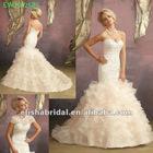 Mermaid Sweetheart Crystal Beaded Bodice Light Gold New Model 2012 Wedding Dress
