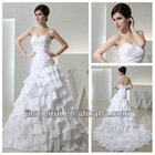 Best Selling Sweetheart Pleat Off White Taffeta Wholesale Mermaid Wedding Dress Real Sample