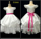 Lovely white cap sleeve ball gown kids dresses for weddings