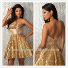 Padded Stunning Sequins all over Cute Party Prom Dresses