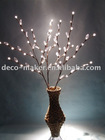 1.2m 72 LED lights branch with frosed ball and transparent leaves