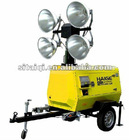 Fuzhou Haige Waterproof mobile trailer light tower MLT41000-10T