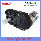 12V 24VDC gear motor low rpm large torque plastic