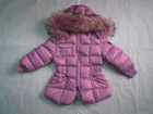 Wholesale & Retail Girls Fur Hooded Down Coat/jacket--Pink
