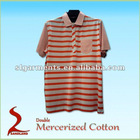 100% Double Mercerized cotton short sleeve polo shirts for men
