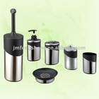 6 pcs Plastic+SS Bathroom Set, mirror or matt finish