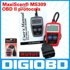 all 1996 and later OBD II compliant US,European and Asian vehicles MaxiScan MS 309 CAN OBD II/EOBD Code Reader MS309