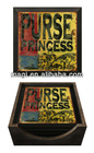 Rustic Purse Princess Square Wooden Coaster