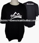 One Color Printing 100 combed cotton t shirts